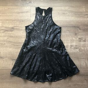 Free People Black Sequin Sleeveless Party Dress